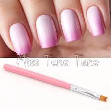 1pcs pink acrylic uv gel polish nail art painting drawing french negative space nails tips pen brush fish tale design diy tools in nail brushes from beauty