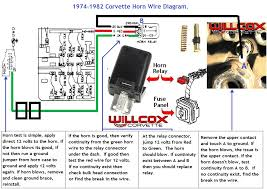 1974 1982 corvette horn circuit wire diagram willcox corvette, inc fiamm horn wiring diagram at Horn Diagram Wiring