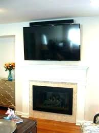 how to cover a brick fireplace mounting on mounted over mount covering with tile fireplac