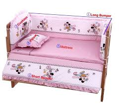 hot 100 60cm baby bedding sets include pillow pers mattress mickey minnie mouse baby cot
