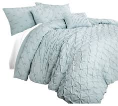 ravello pintuck comforter blue 5 piece