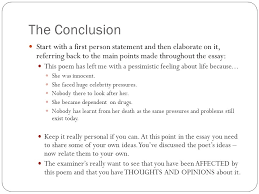 the death of marilyn monroe ppt  the conclusion start a first person statement and then elaborate on it referring back