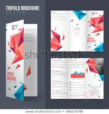Tri Fold Brochure Layout Professional Tri Fold Brochure Layout Modern Abstract Stock Vector