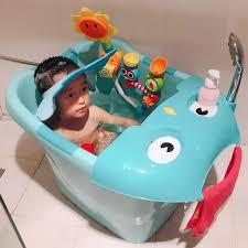 2019 newborn baby kids shower folding travel seat safety bathing bucket bathtub foldable plastic baby bath tub bloom for bathing from newyearable