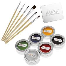 ccbeauty professional 6 colors grease face body paint kit wooden face paint brushes set
