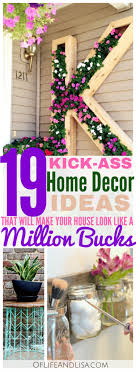 Small Picture 19 Amazing DIY Home Decor Ideas Of Life and Lisa