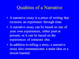 narrative writing an autobiographical incident by alyson dix  qualities of a narrative a narrative essay is a piece of writing that recreates an experience
