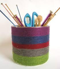 yarn wrapped storage tin