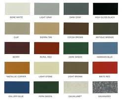 Jones Roofing And Sons Llc Color Chart Selection
