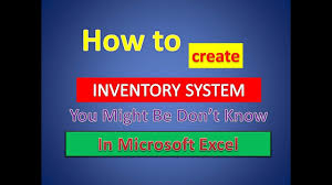 How To Create An Inventory System In Excel Create Inventory System In Microsoft Excel Using Vlookup And Sumif