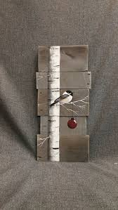 pallet painting ideas christmas. christmas sign, white birch, red bulb, gray wood pallet art, hand painted painting ideas