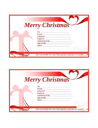 Free Christmas Gift Certificate Templates Template Merry Christmas Gift Certificate Template Pink Beautiful 16