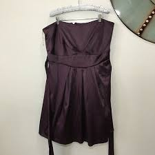 Plus Size 3x Trixxi Purple Strapless Party Cocktail Tie Back