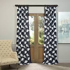 Half Price Drapes FELCH-SLWE3955B-84 Embroidered Faux Linen Sheer Curtain,  Plume Navy, 50