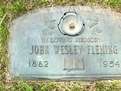 John Wesley Fleming (1882-1954) - Find A Grave Memorial