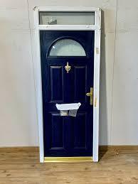 Door Top Light Composite Blue Front Fire Resistant Door Toplight Exterior