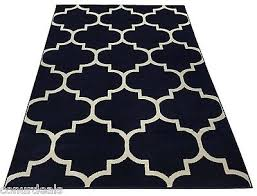 moroccan trellis lattice navy off white area rugs 5x7 5x8 8x10 8x11