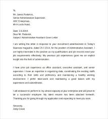 executive assistant cover letters sample administrative assistant cover letter template 8