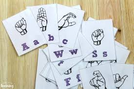 Alphabet flash cards help little ones in learning their alphabets. Free Printable Flashcards Sign Language Alphabet Flashcards