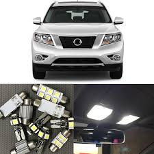Us 10 8 10 Off 12pcs Auto Car Led Light Bulbs Interior Kit For 2013 2014 2015 Nissan Pathfinder 12v White Map Dome Trunk License Plate Light In