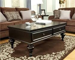 dark wood coffee table with drawers amazing black lacquered wood table drawer brown damask wool dark wood coffee table with drawers