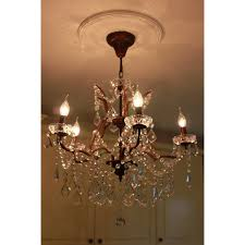 5 light glass chandelier bronze finish