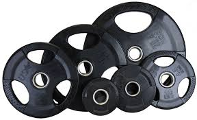 USA Rubber Encased 255lb Grip Plate Set | Weight Plates/Weight Sets