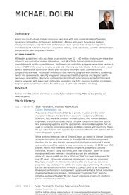 Vice President Human Resources Resume Samples Visualcv Resume