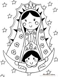 Virgen De Guadalupe Coloring Pages Picture Coloring Virgen De