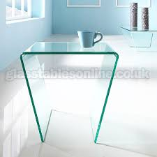 glass side table. Angled Glass Side Table