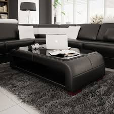 colorful long side coffee table design