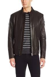 boss orange men s jofynn sheep leather biker jacket r