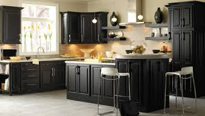 kitchens with black cabinets. Impressing Kitchen Upgrading Your With Distressed Black Cabinets Of Cheap Kitchens