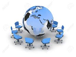 globe office chairs. Abstract Illustration - Soccer Ball, Earth Globe And Office Chairs Stock  Illustration 14617941 V