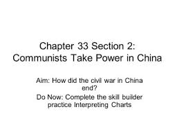 Chapter 17 2 Communists Triumph In China I Civil War In