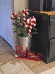 Large Candy Cane Decorations Love the big candy canes in a container Sew Many Ways Christmas 36