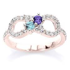 infinity mothers ring. buy his and hers infinity birthstone ring 10k yellow , white or rose gold with 2 birthstones cz side accents personalized couples jewelry in cheap price mothers r