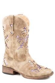 girls vintage tan faux leather lola cowboy boots theisen s home auto
