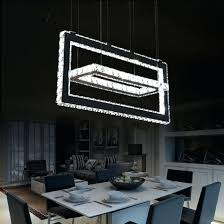 unforgettable led crystal chandelier with modern square stainless steel plating modern home pendant light modern square