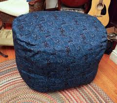 i also made a variation out of s denim and corduroy i scaled the pattern down to two thirds size about 2 diameter patchwork chair