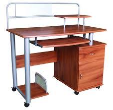 multi level computer desk oak