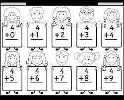 Beginner Addition Basic Facts 9 Kindergarten Math Worksheets ...