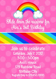 brave rainbow birthday party invitations printable com 5 brave rainbow birthday party invitations printable