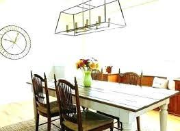 farmhouse dining light room chandelier modern rectangular