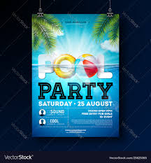 Poster Design Party Summer Pool Party Poster Design Template With