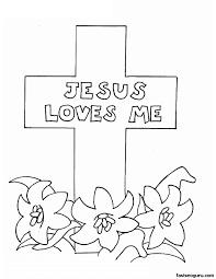 Religious Easter Coloring Pages For Kids Printable Happy Easter