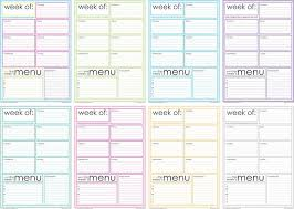 one week menu planner free printable weekly menu planner artsy fartsy artsy and organizing