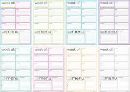 one week menu planner free printable weekly menu planner artsy fartsy artsy and organizing