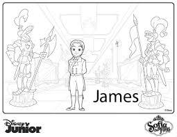 Prince James Coloring Page