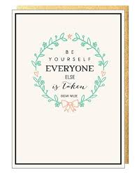 Quote Cards Simple Oscar Wilde Inspirational Quote Cards Megan Claire Greeting Cards